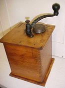 Sun Challenge Antique Box Coffee Mill Grinder Large