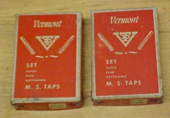 Vermont Taps Boxed Tap Set 10-32 & 10-24