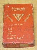 Vermont Taps Boxed Tap Set 3/8-16 Nice Vintage Set!