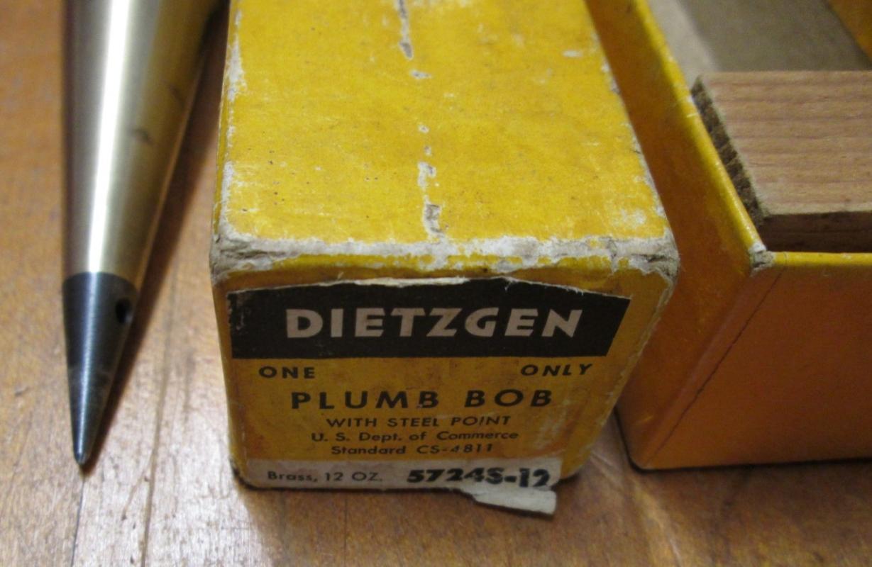 Dietzgen Plumb Bob 12 oz. Brass 5724S-12