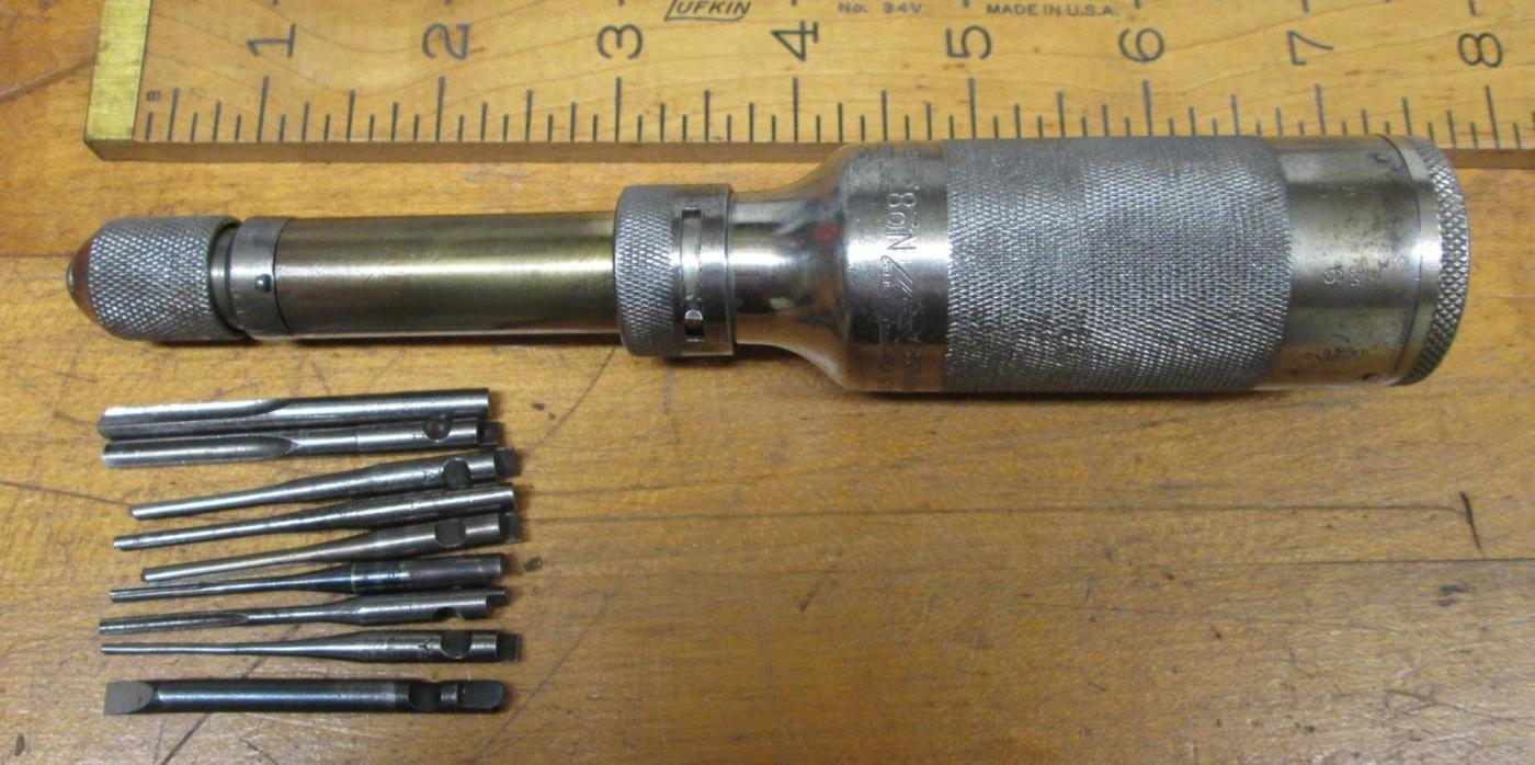 Millers Falls No. 8 Spiral Push Drill Rare!