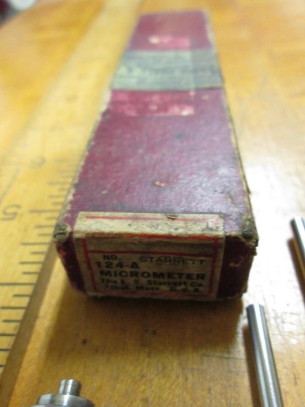 Starrett Inside Micrometer No. 124A Set + Box