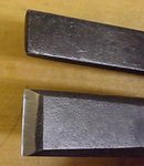 Antique Cold Chisel Pair Curved Neck Dasco