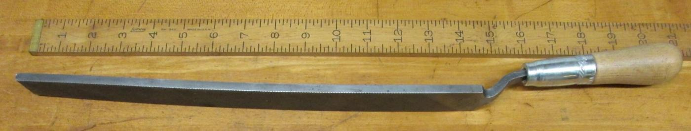 Heller NuCut Rasp/File No. 2797 Bent Tang