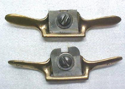 Miniature Cast Brass Spoke Shave Pair