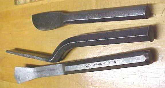 Antique Cold Chisel Group Unusual Shapes