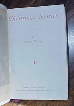 Dickens Christmas Stories Leather 1900's