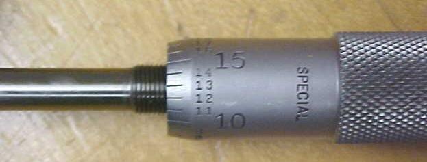 Starrett  Micrometer Head 0-1 inch Special