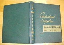 J.A. Williams Industrial Tools Catalog 1930's
