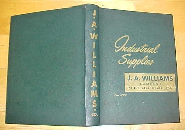 J.A. Williams Industrial Tools Catalog 1930's