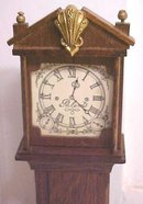 Dollhouse Grandfather Clock Wood Ornate Vintage