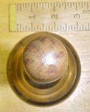 Brass Bell Wood Handle Service Counter