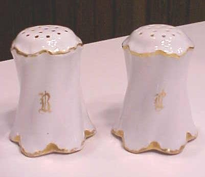 Salt & Pepper Rosenthal + Hat Pin Holder Violets German
