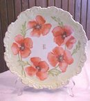Alice Wagner Porcelain Plate Floral Hand Painted 9 inch