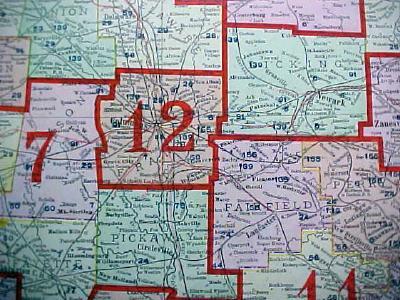 Antique Map Ohio Railway & County Platt Map 1909 Large Foldout