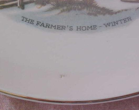 Crookville Farmer's Home Winter Plate Iva-Lure 8 inch