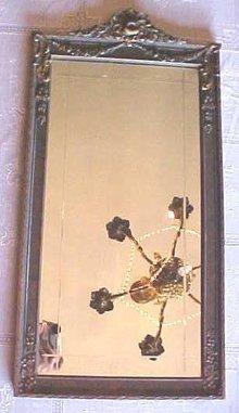 Ornate Mirror Cut Glass Molded Ornate Wall Frame