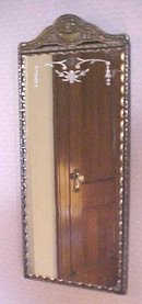 Ornate Mirror Scallop Beveled Glass Molded Ornate Wall Frame