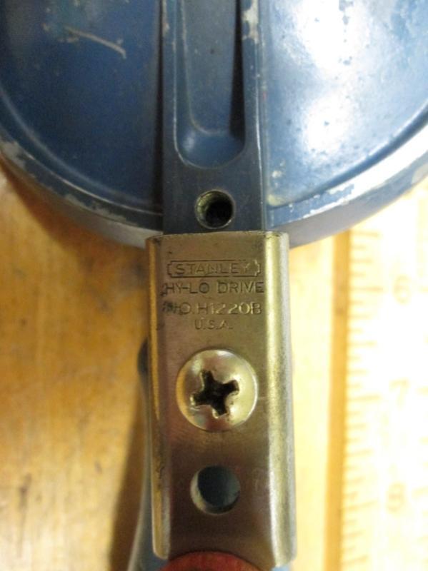 Stanley No. H1220B Handyman Hand Drill Egg Beater