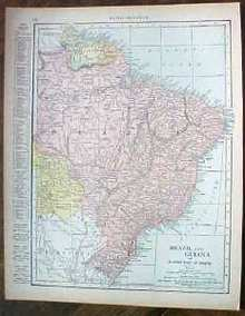 Antique Map Brazil Guiana Colombia Venezuela 1915 Great Colors