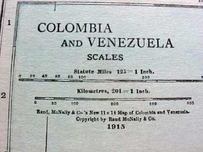 Antique Map Brazil Guiana Colombia Venezuela 1915 Great Colors