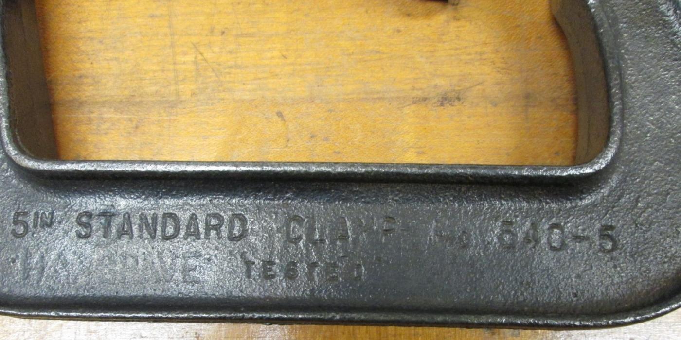 Cincinnati C-Clamp No. 540 Antique 5 inch Pair