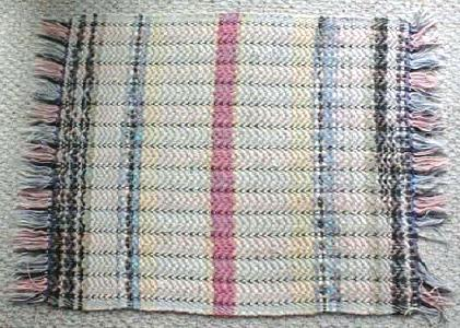 Rag Rug Pastel Country Primitive