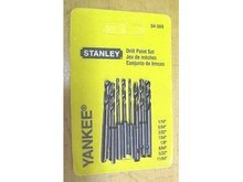 Stanley Yankee Push Drill Spiral  Point Set 04-069