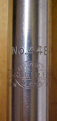 Greenlee Spiral Ratchet Screwdriver No. 448 w/Hex Adapter