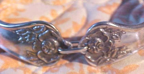 Spoon Bracelet Silverplate Rose International Silver Flatware