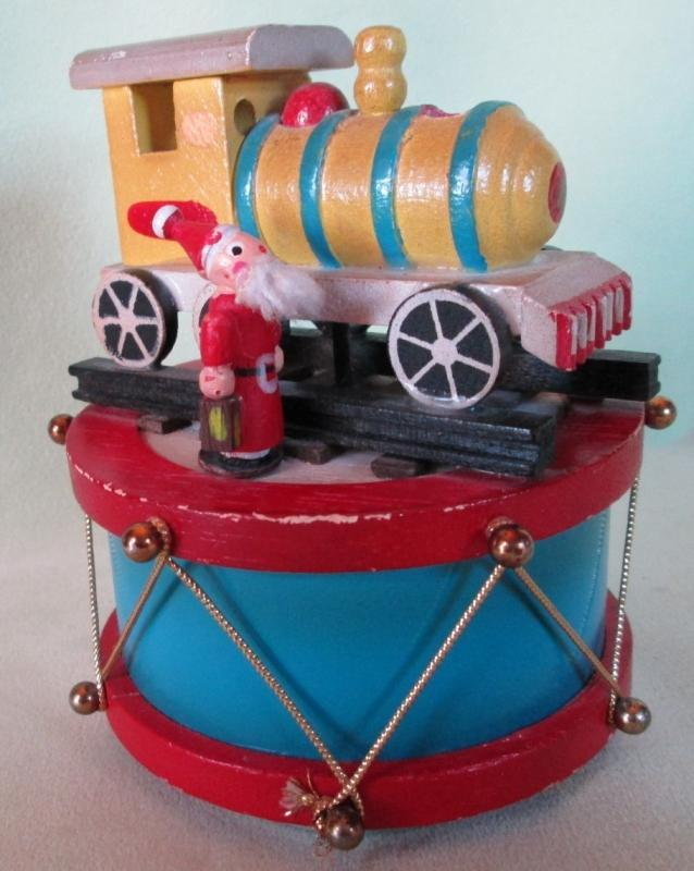 Music Box Wood Santa Wood Train Jingle Bells