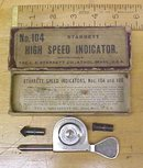 Starrett Speed Indicator No. 104 + Box Pat. 1905