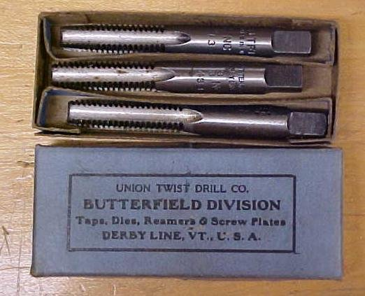 Union Twist Tap Set 3/8-16 Butterfield w/Box