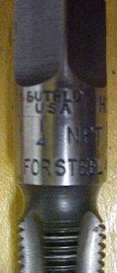 Union Twist Pipe Tap 1/4 inch NPT for Steel Butterfield
