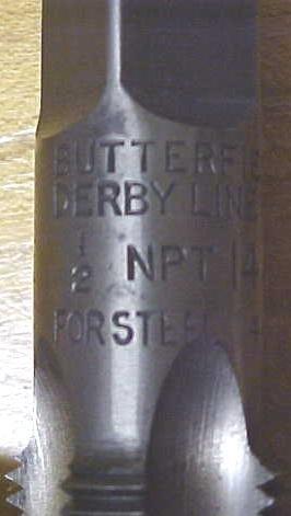 Union Twist Pipe Tap 1/2 inch NPT for Steel Butterfield