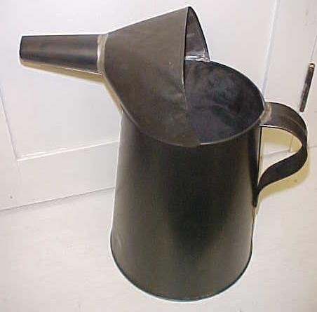 Tin Oil Liquid Can 4 qt. w/Spout & Handle