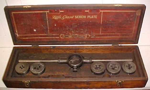 Greenfield Little Giant Tap & Die Set  w/Box