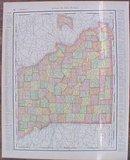 Map Iowa & Missouri 1907 Rand McNally