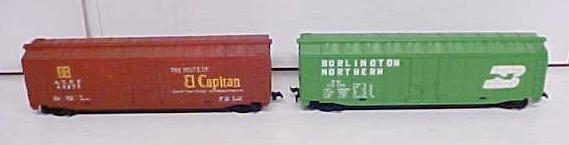 Train Cars HO Scale El Capitan Burlington (2) Box Cars