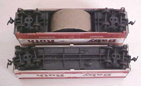 Train Cars HO Scale Baby Ruth (2) Sizes (1) Track Cleaner
