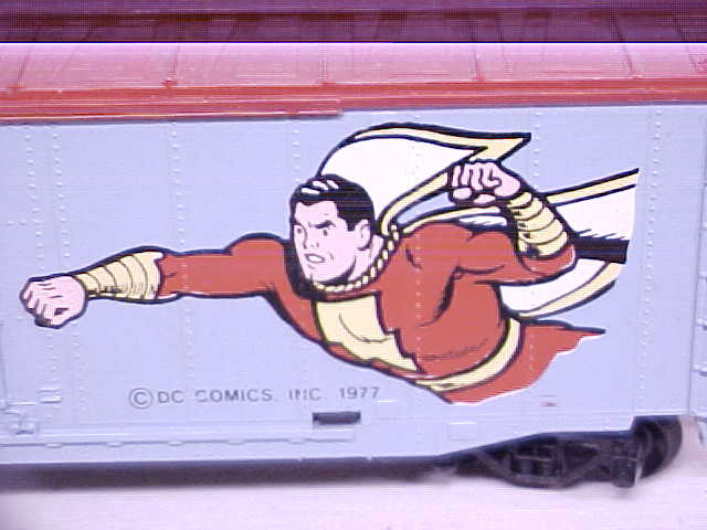 Train Car HO Scale Shazam DC Comics Box Car
