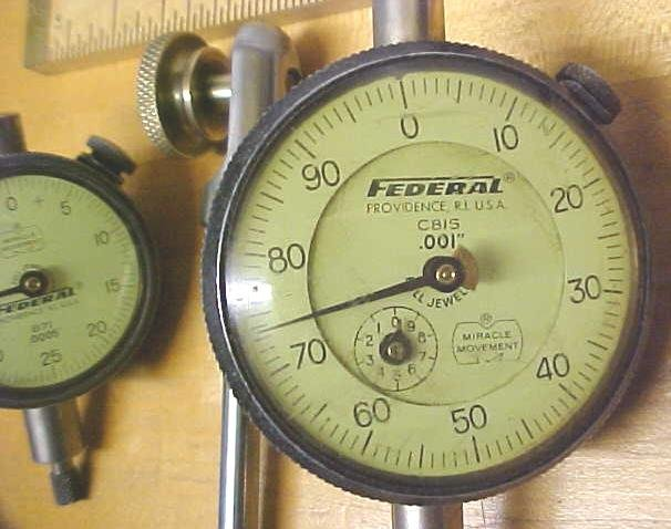 Federal Precision Dial Indicator (2) + Holder