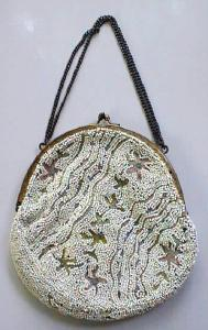 Purse Bag Beaded & Embroidered Ladies French