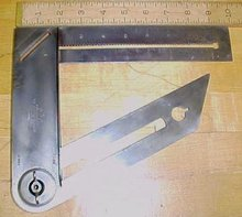 M.A.D. Combination Square The Square Mfg. Co. Toledo Rare!