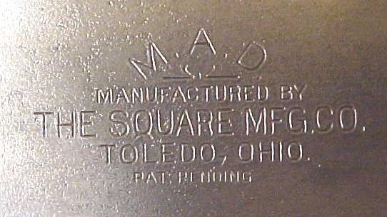 M.A.D. Combination Square The Square Mfg. Co. Toledo Rare!