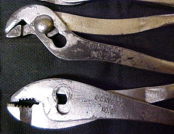 Antique K-D Mini Pliers Set & Pouch K-D No. 6, 7, 8, & 9