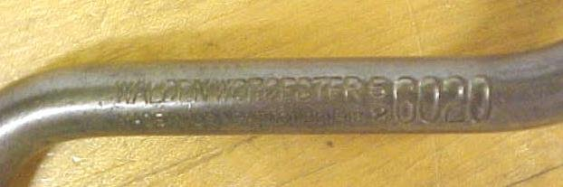 Walden Brace Wrench 5/8 inch Socket No. 6020 Worcester