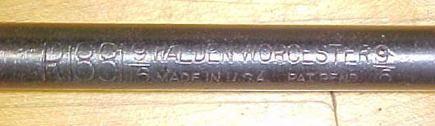 Walden Socket Wrench 9/16 inch No. 1881 Antique