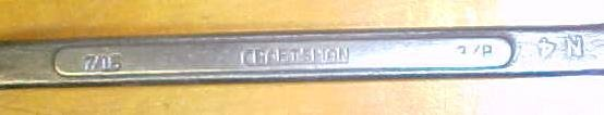 Craftsman Box Wrench  Bent Front 7/16 & 3/8 inch Vintage