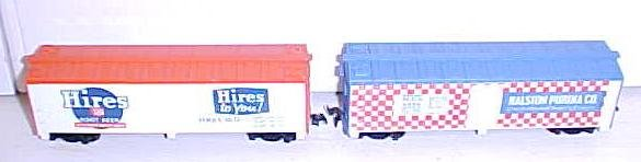 Train Cars HO Scale Purina & Hires Root Beer Box Cars